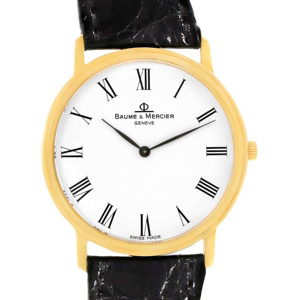 20280 Baume Mercier Classima Ultra Thin 18K Yellow Gold Quartz Watch MV045088 SwissWatchExpo
