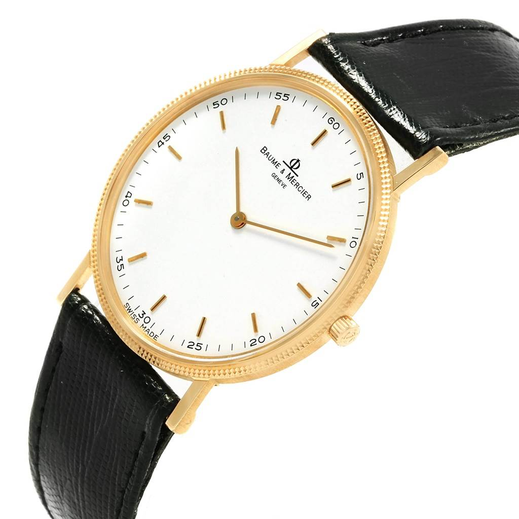20260 Baume Mercier Classima Ultra Thin 18K Yellow Gold Quartz Watch 15603 SwissWatchExpo