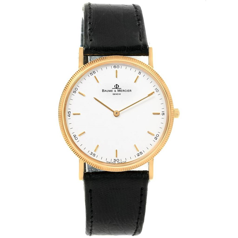 Baume Mercier Classima Ultra Thin 18K Yellow Gold Quartz Watch 15603 SwissWatchExpo