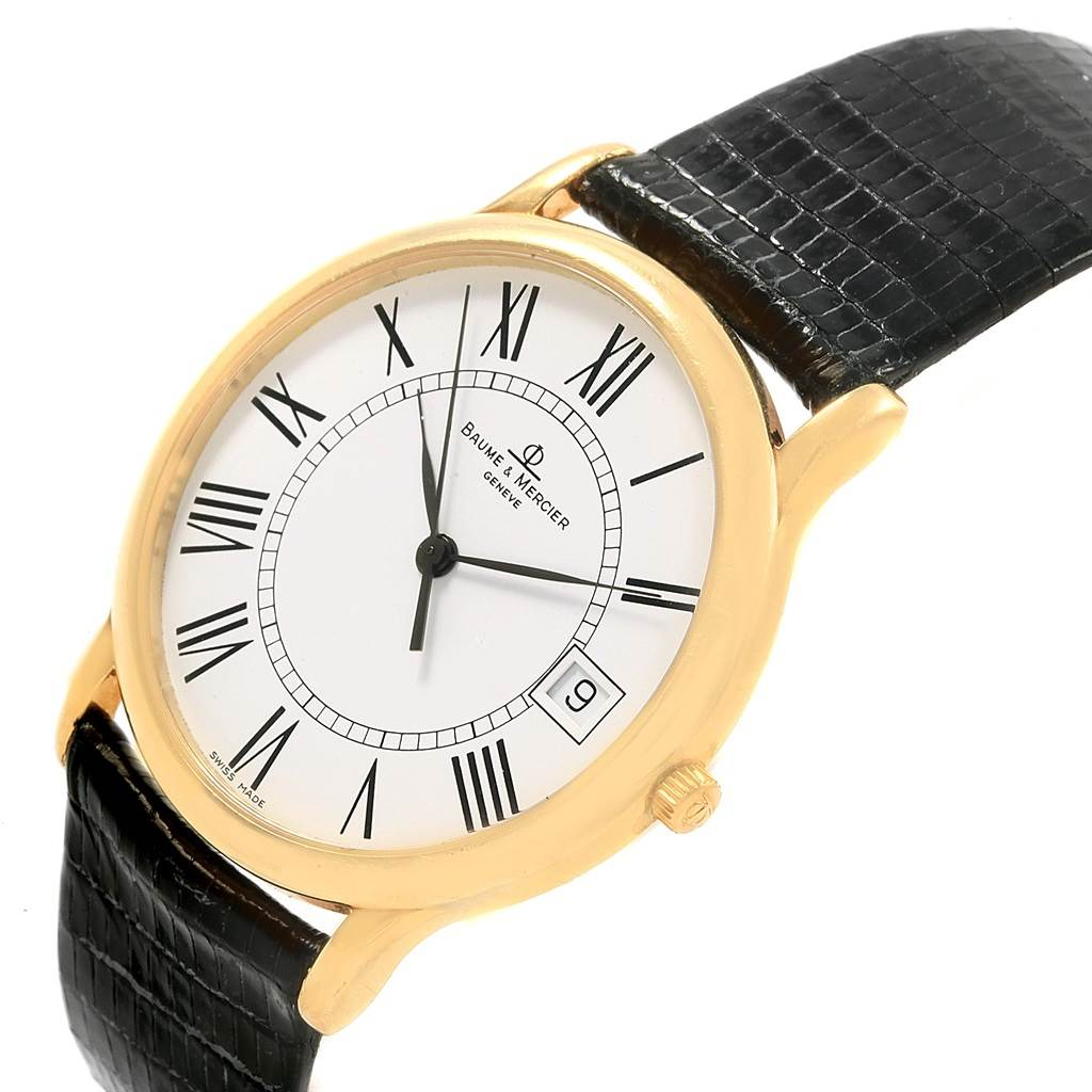20338 Baume Mercier Classima Ultra Thin 18K Yellow Gold Quartz Watch MV045077 SwissWatchExpo
