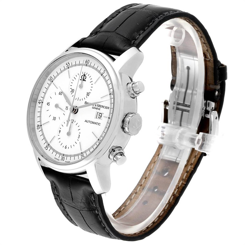 Baume Mercier Classima Executive XL Chronograph Steel Mens Watch 65533 SwissWatchExpo