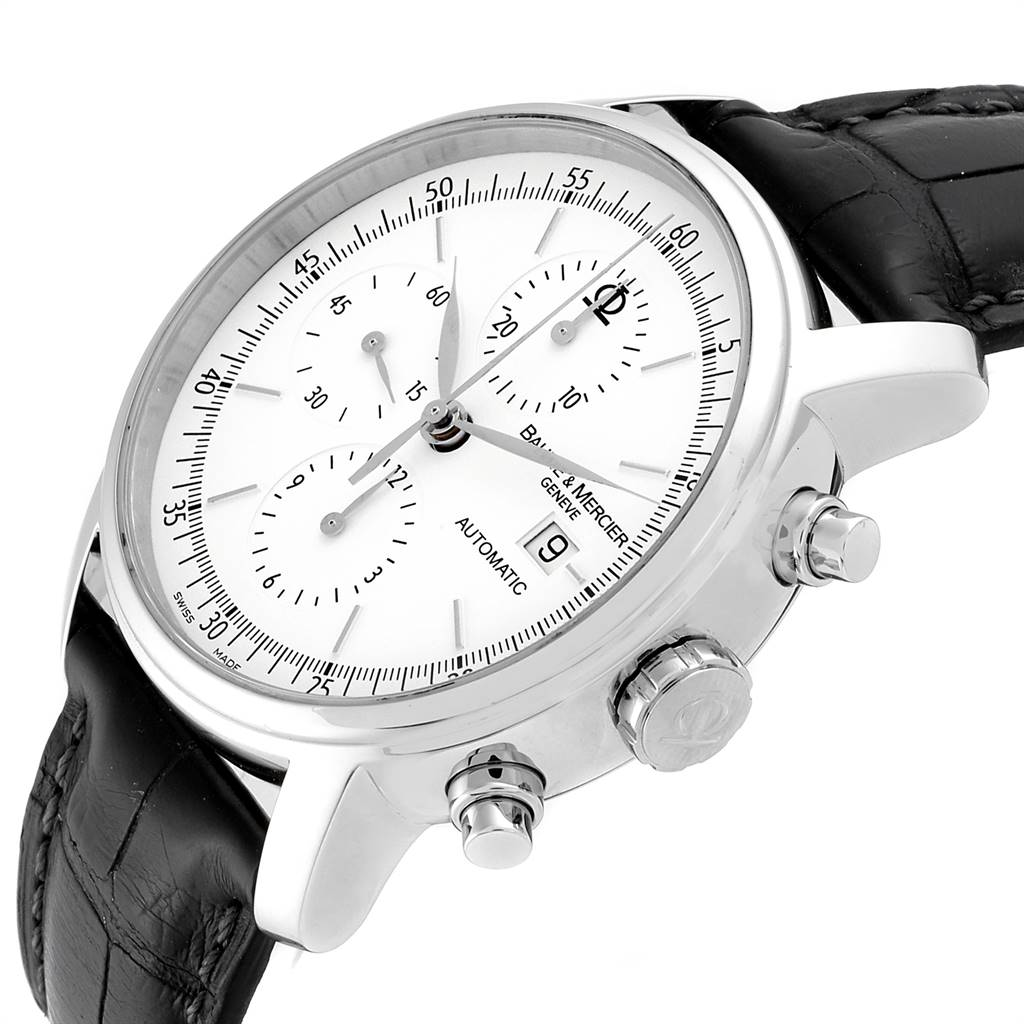 13305 Baume Mercier Classima Executive XL Chronograph Steel Mens Watch 65533 SwissWatchExpo