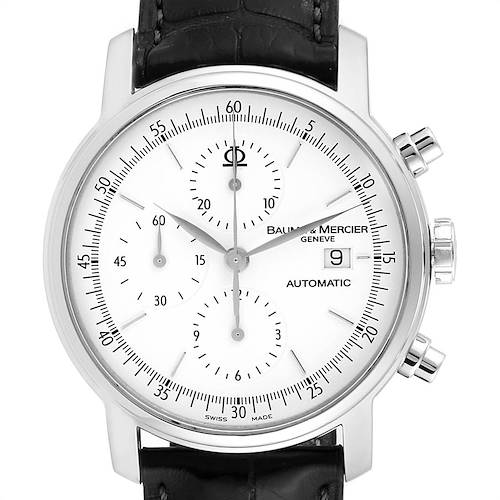 Photo of Baume Mercier Classima Executive XL Chronograph Steel Mens Watch 65533