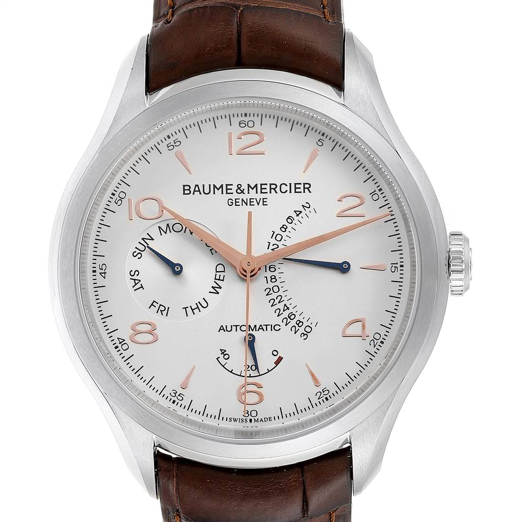 Baume Mercier Classima Executive Clifton Steel Mens Watch 10149 Unworn SwissWatchExpo