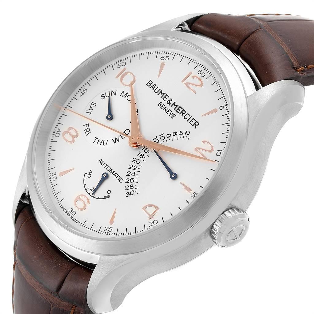 25047 Baume Mercier Classima Executive Clifton Steel Mens Watch 10149 Unworn SwissWatchExpo