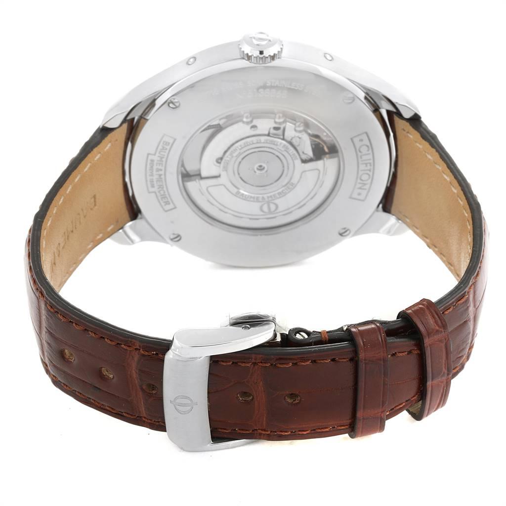 25045 Baume Mercier Classima Executive Clifton Grey Dial Watch 10213 Unworn SwissWatchExpo