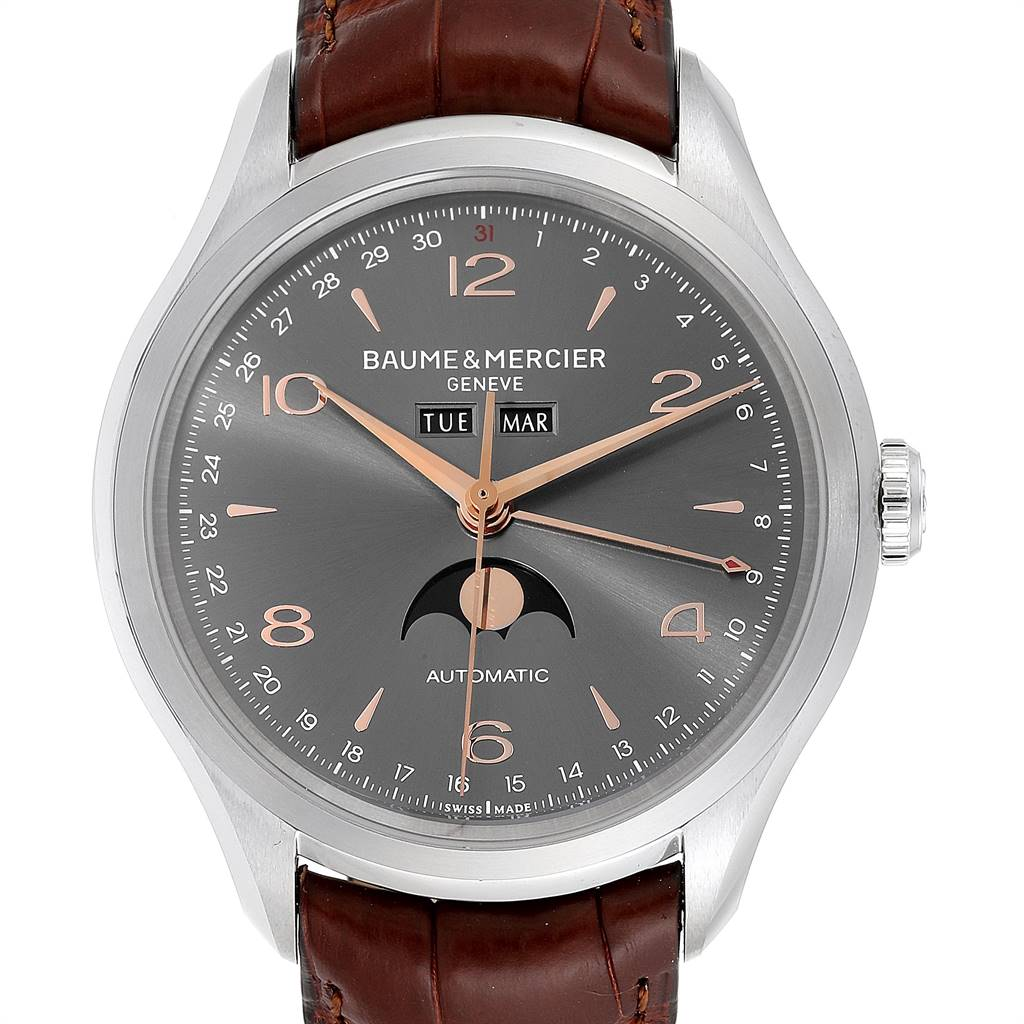 Baume Mercier Classima Executive Clifton Steel Mens Watch 10213 Unworn SwissWatchExpo