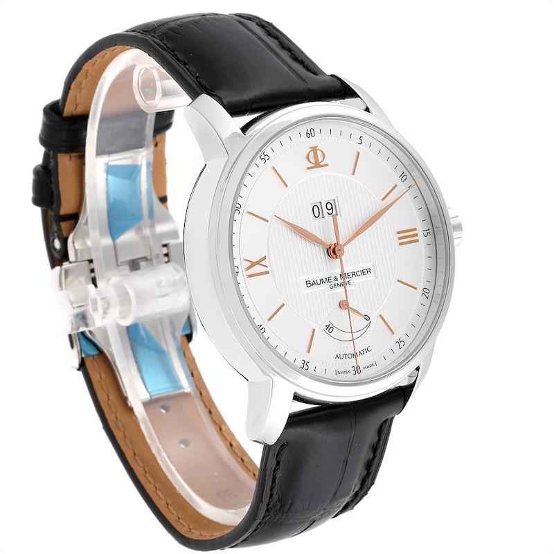 Baume Mercier Classima Executive Silver Dial Steel Mens Watch 10142 SwissWatchExpo