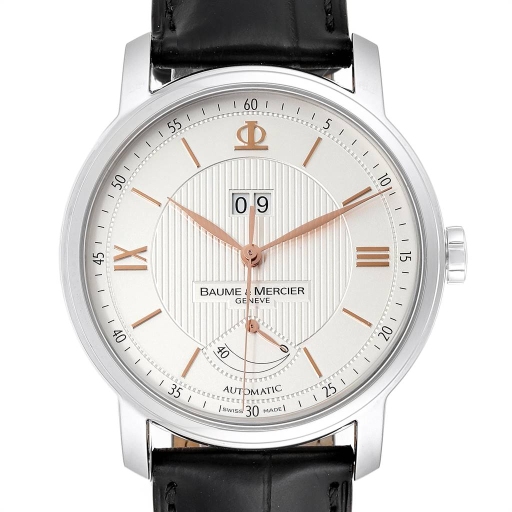25044 Baume Mercier Classima Executive Silver Dial Steel Mens Watch 10142 SwissWatchExpo