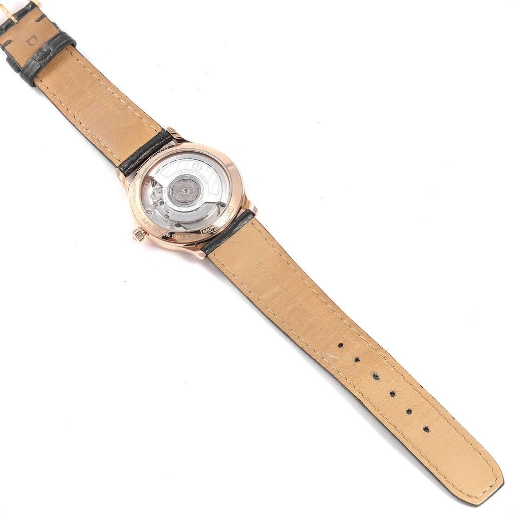 25268 Baume Mercier Classima Rose Gold Mother of Pearl Diamond Watch 10077 SwissWatchExpo