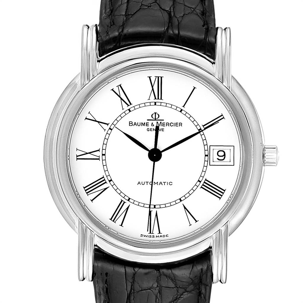25547 Baume Mercier Classima White Gold Mens Watch MV045077 Box Papers SwissWatchExpo