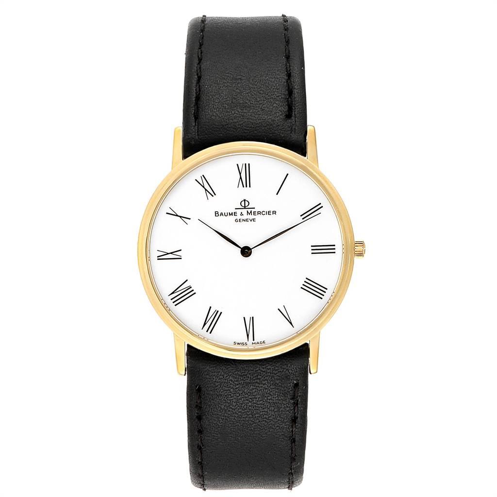 Baume Mercier Classima Ultra Thin Yellow Gold Quartz Mens Watch MV045088 SwissWatchExpo