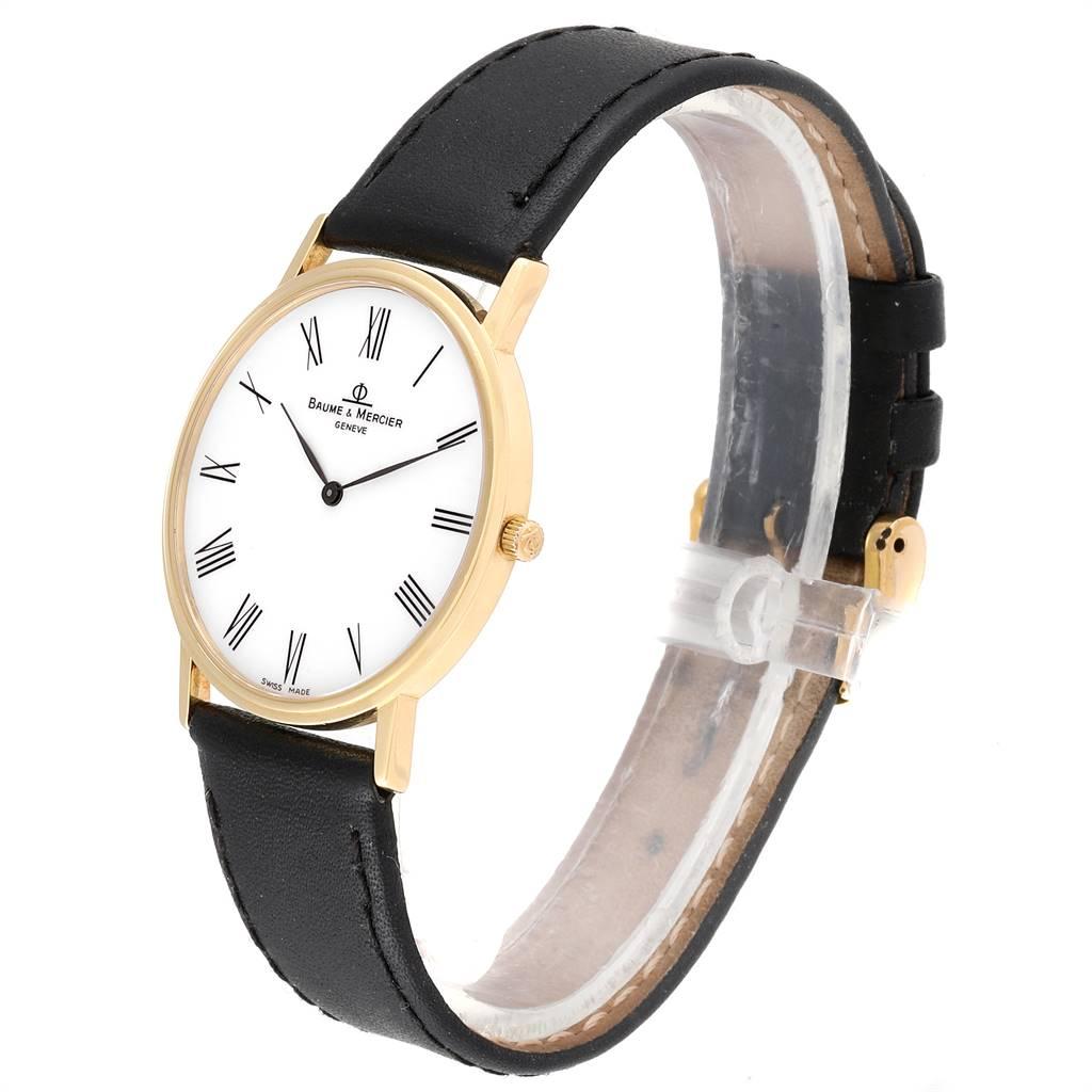 24757 Baume Mercier Classima Ultra Thin Yellow Gold Quartz Mens Watch MV045088 SwissWatchExpo