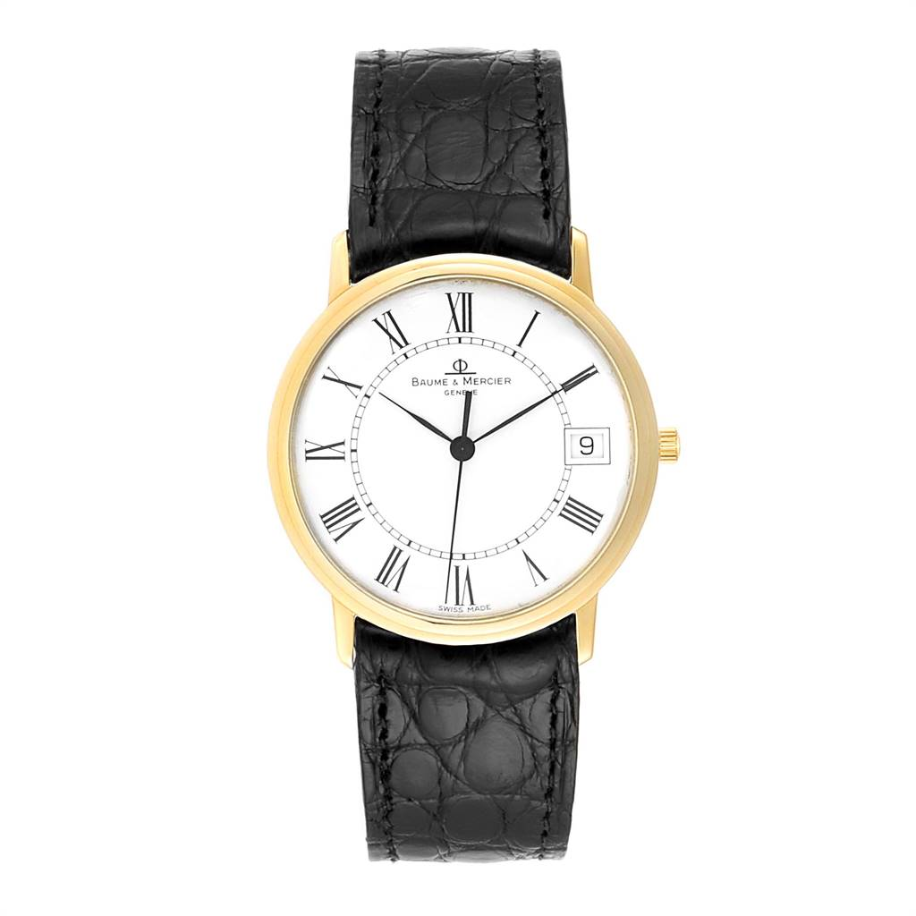 Baume Mercier Classima Ultra Thin Yellow Gold Mens Watch MV045077 Box card SwissWatchExpo
