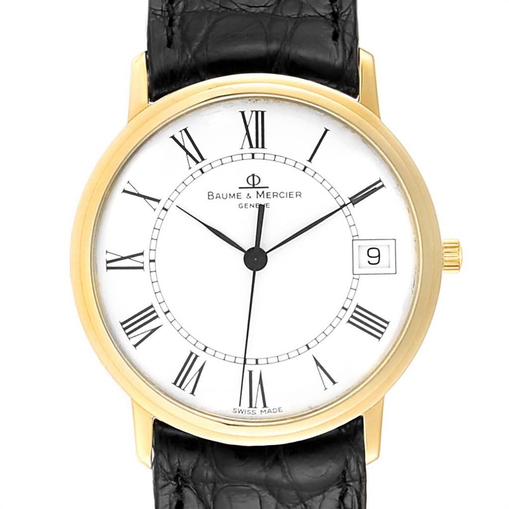 25483 Baume Mercier Classima Ultra Thin Yellow Gold Mens Watch MV045077 Box card SwissWatchExpo