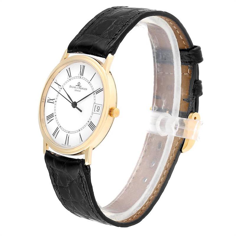 Baume Mercier Classima Ultra Thin Yellow Gold Mens Watch MV045077 Box card SwissWatchExpo