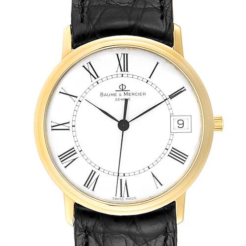 Photo of Baume Mercier Classima Ultra Thin Yellow Gold Mens Watch MV045077 Box card