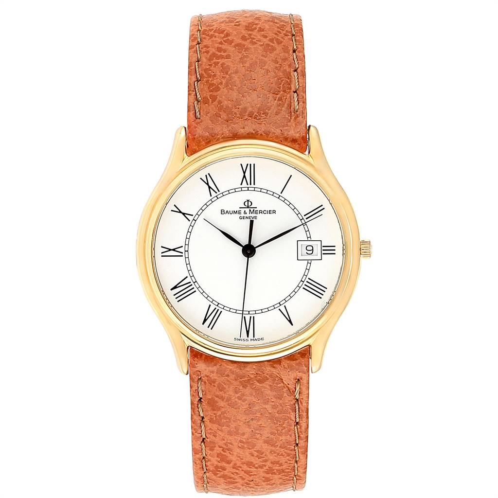 Baume Mercier Classima Ultra Thin 18K Yellow Gold Quartz Watch MV045236 SwissWatchExpo