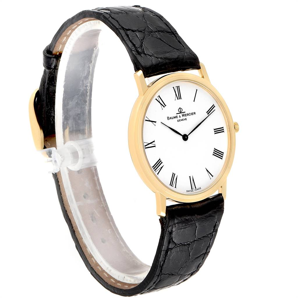 Baume Mercier Classima Ultra Thin 18K Yellow Gold Quartz Watch 95612 SwissWatchExpo