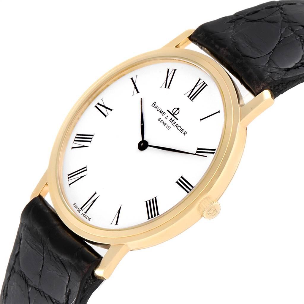 25525 Baume Mercier Classima Ultra Thin 18K Yellow Gold Quartz Watch 95612 SwissWatchExpo