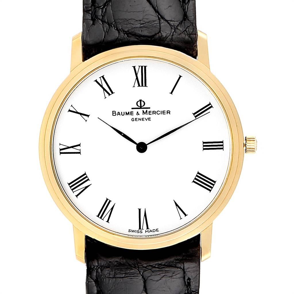 Photo of Baume Mercier Classima Ultra Thin 18K Yellow Gold Quartz Watch 95612