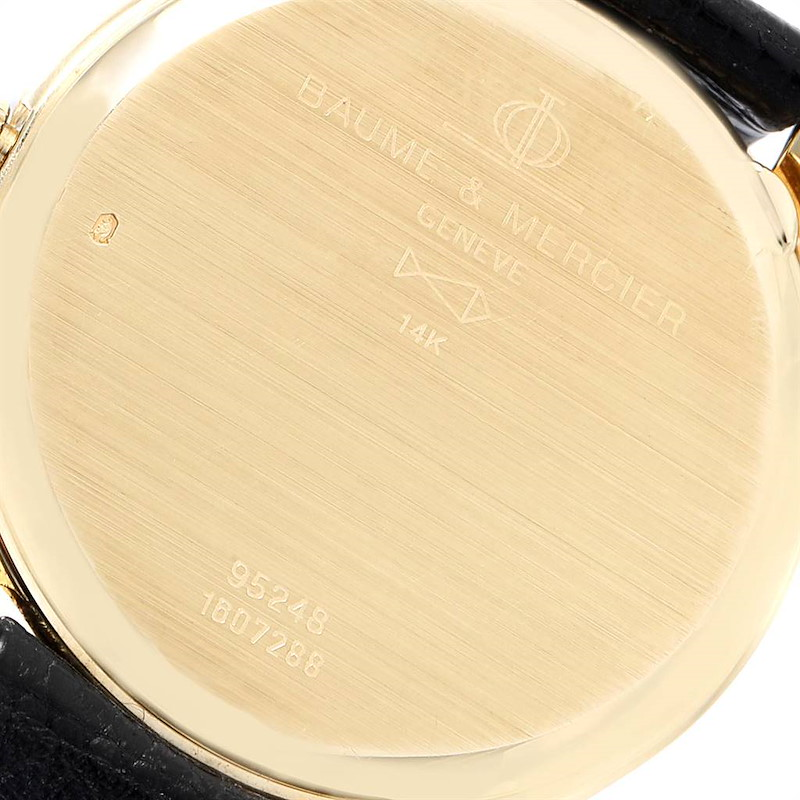 Baume Mercier Classima 14K Yellow Gold Mens Watch 95248 SwissWatchExpo