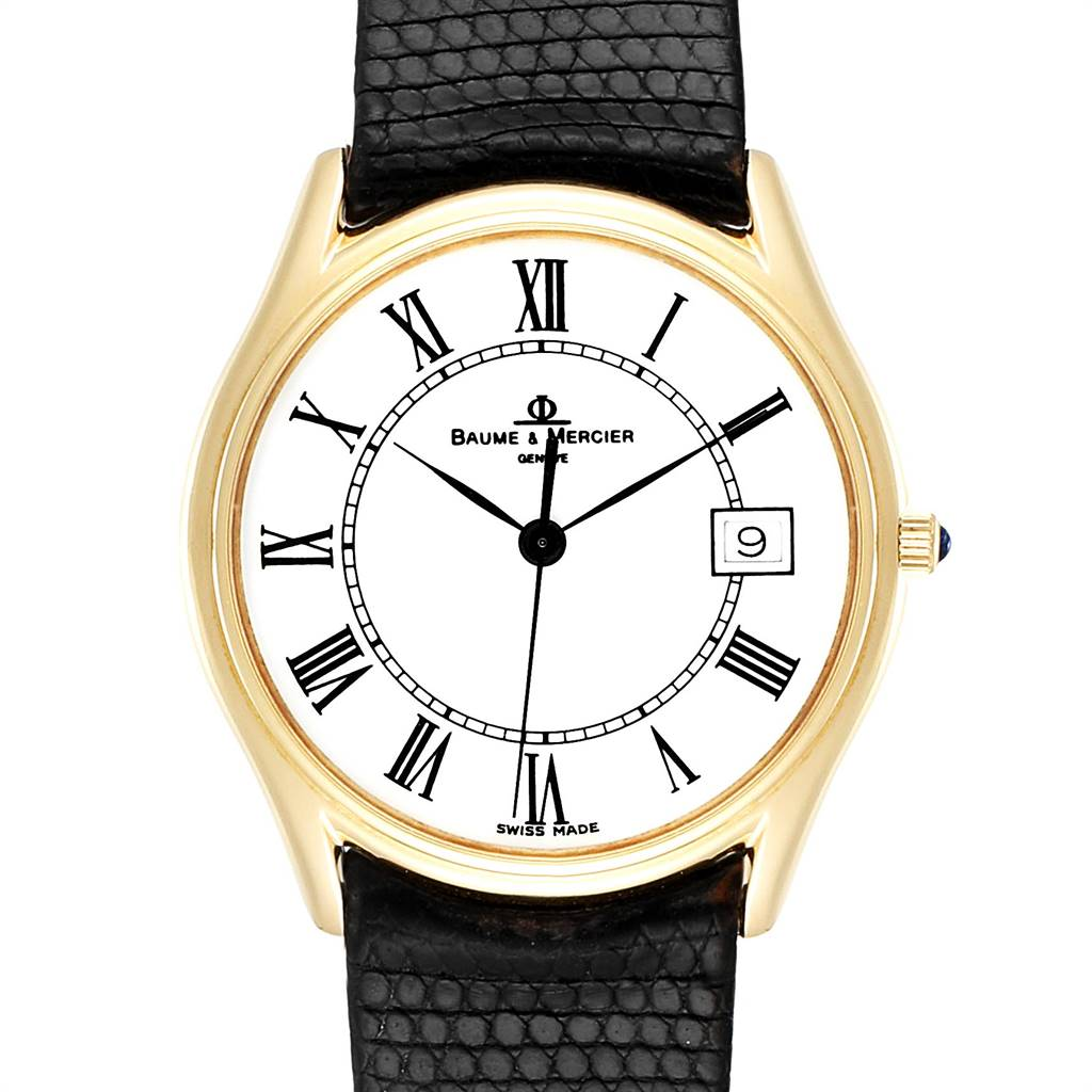 25524 Baume Mercier Classima 14K Yellow Gold Mens Watch 95248 SwissWatchExpo