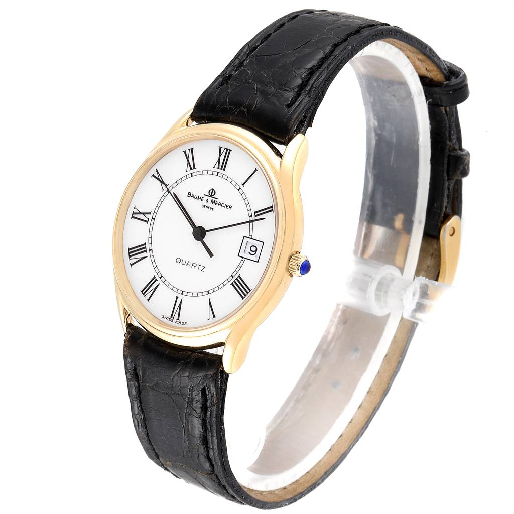 25526 Baume Mercier Classima 14K Yellow Gold Mens Watch 95248 SwissWatchExpo