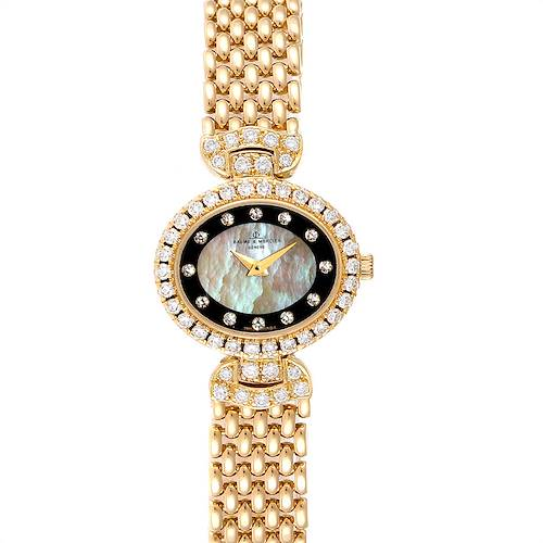 Photo of Baume Mercier Yellow Gold MOP Diamond Vintage Cocktail Ladies Watch 18523