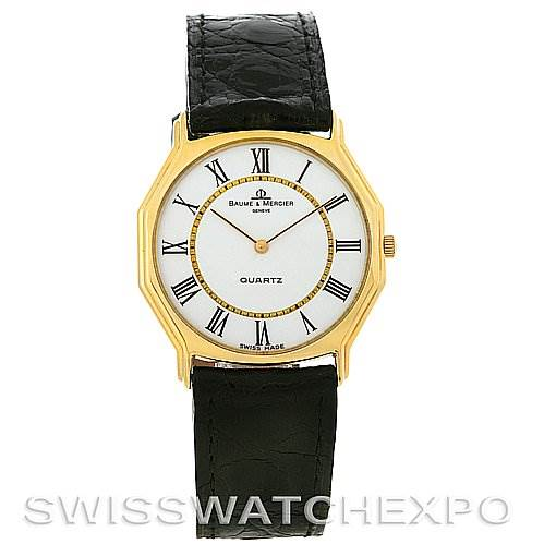 Vintage Baume Mercier 14k Yellow Gold Quartz Watch SwissWatchExpo