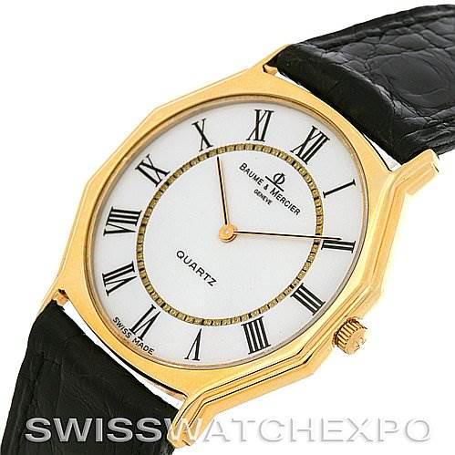 Vintage Baume Mercier 14k Yellow Gold Quartz Watch SwissWatchExpo