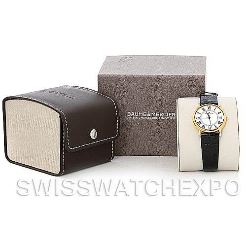 Baume Mercier Men's 18K Classima 1830 Quartz Watch MV045077 SwissWatchExpo