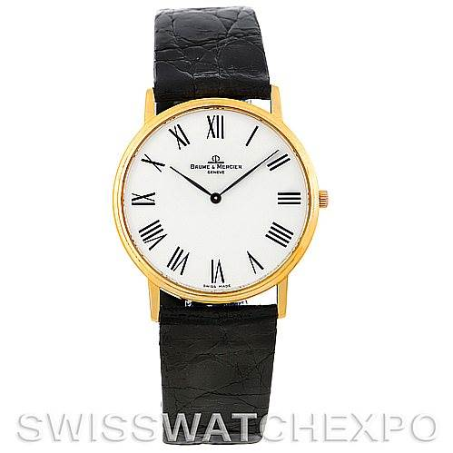 Baume Mercier Men's 18K Quartz Watch MV045088 SwissWatchExpo