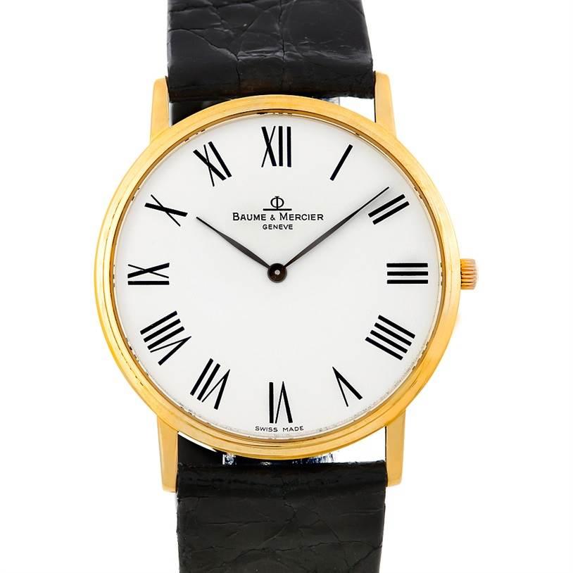 Baume Mercier Men's 18K Quartz Watch MV045088 SwissWatchExpo
