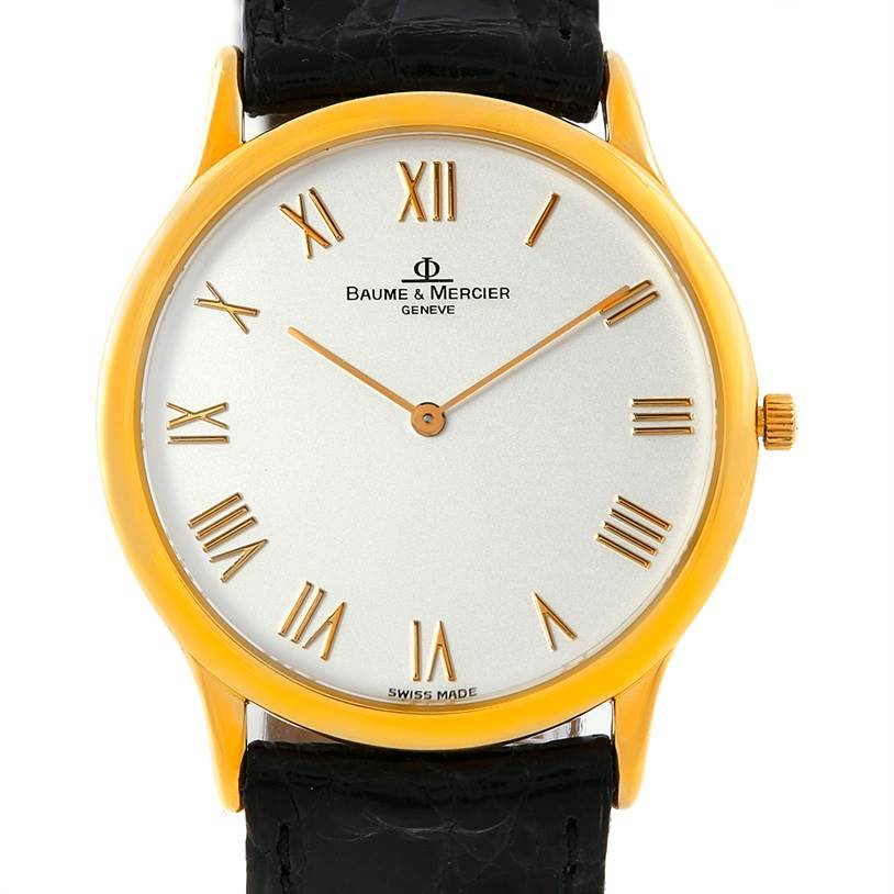 Baume Mercier Classima Mens 18K Yellow Gold Watch MV045078 SwissWatchExpo