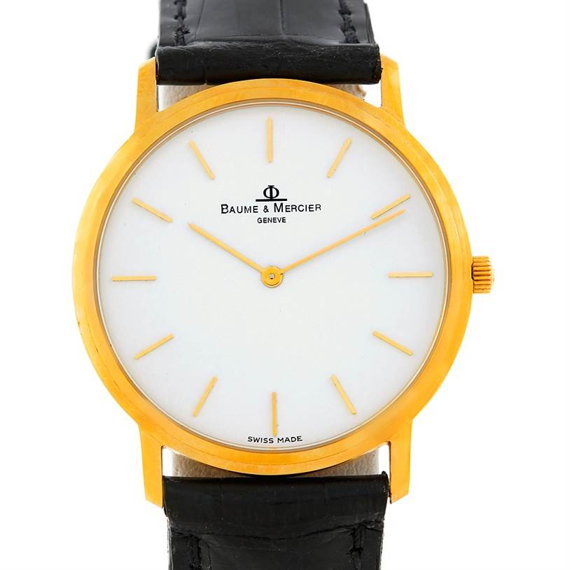 5611 Baume Mercier Classima 14K Yellow Gold Men's Quartz Watch SwissWatchExpo