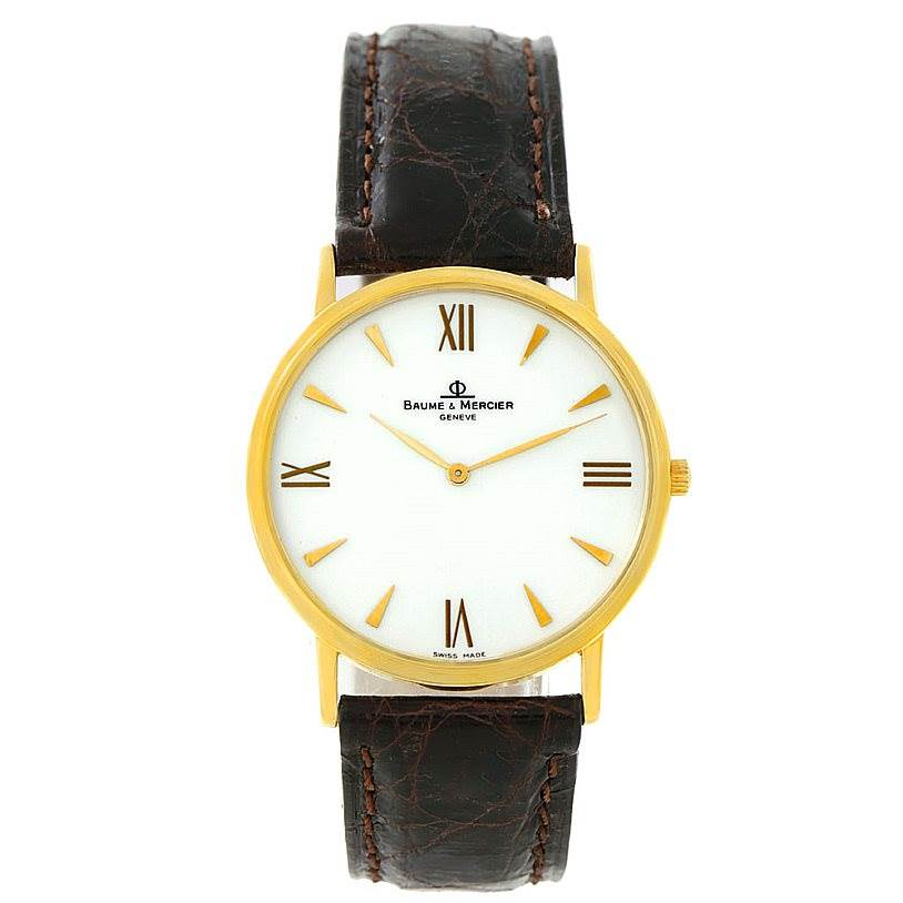 7363 Baume Mercier Men's 18K Classima 1830 Quartz Watch MV045088 8069 SwissWatchExpo