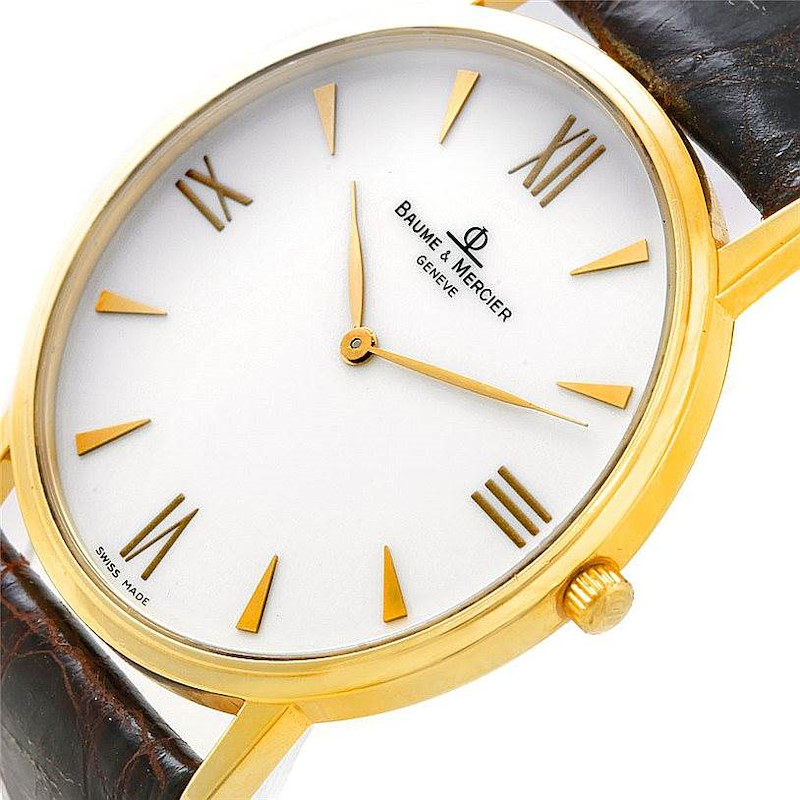 Baume Mercier Men's 18K Classima 1830 Quartz Watch MV045088 8069 SwissWatchExpo