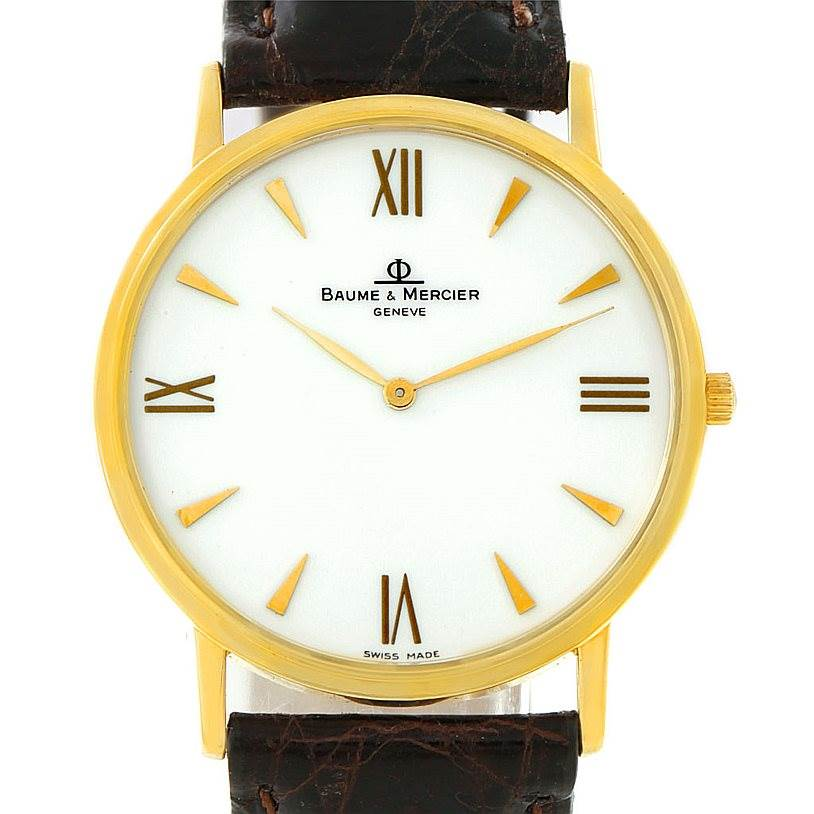 Baume Mercier Men's 18K Classima 1830 Quartz Watch MV045088 8069 SwissWatchExpo