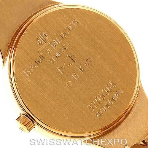 Baume Mercier 14K Yellow Gold Diamond Ladies Watch MX000NM4 SwissWatchExpo