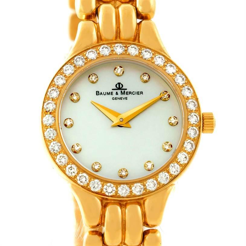 Photo of Baume Mercier 14K Yellow Gold Diamond Ladies Watch MX000NM4