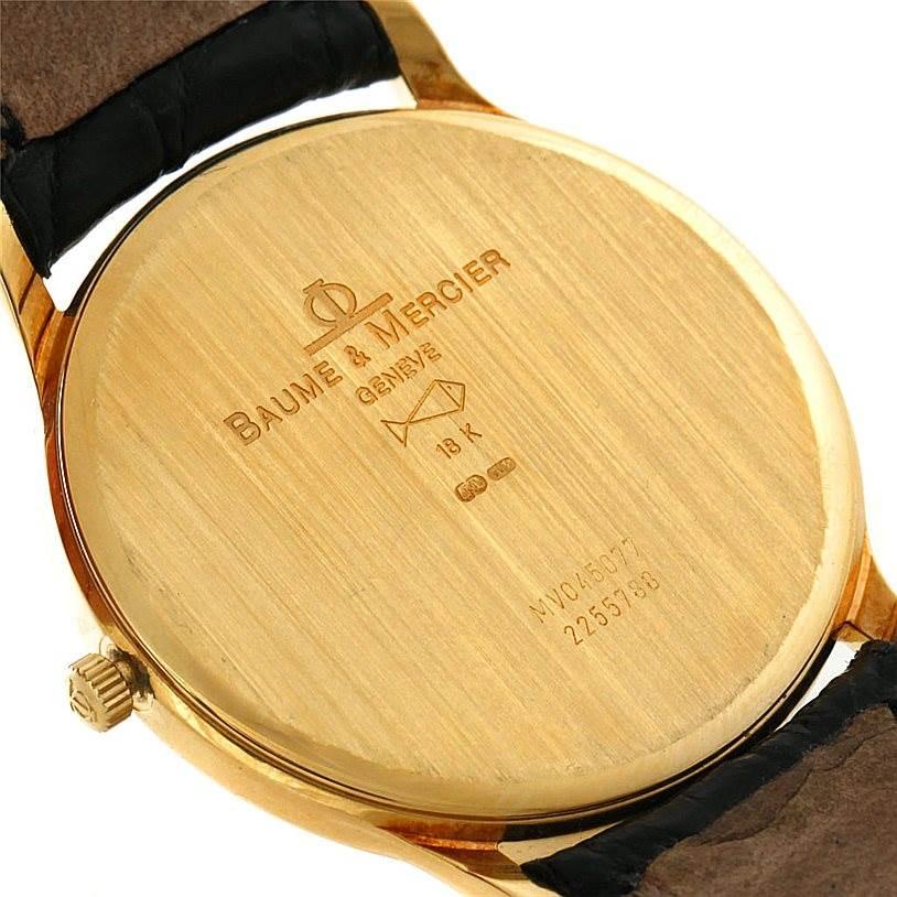 Baume Mercier Classima 1830 18K Yellow Gold Watch MV045077 6149 SwissWatchExpo