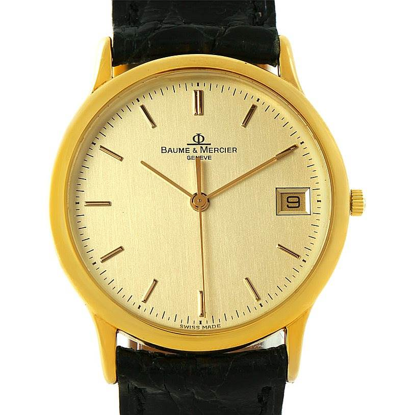 baume mercier classima 1830 18k yellow gold mv045077
