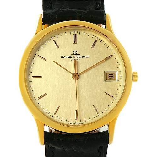 Photo of Baume Mercier Classima 1830 18K Yellow Gold Watch MV045077 6149