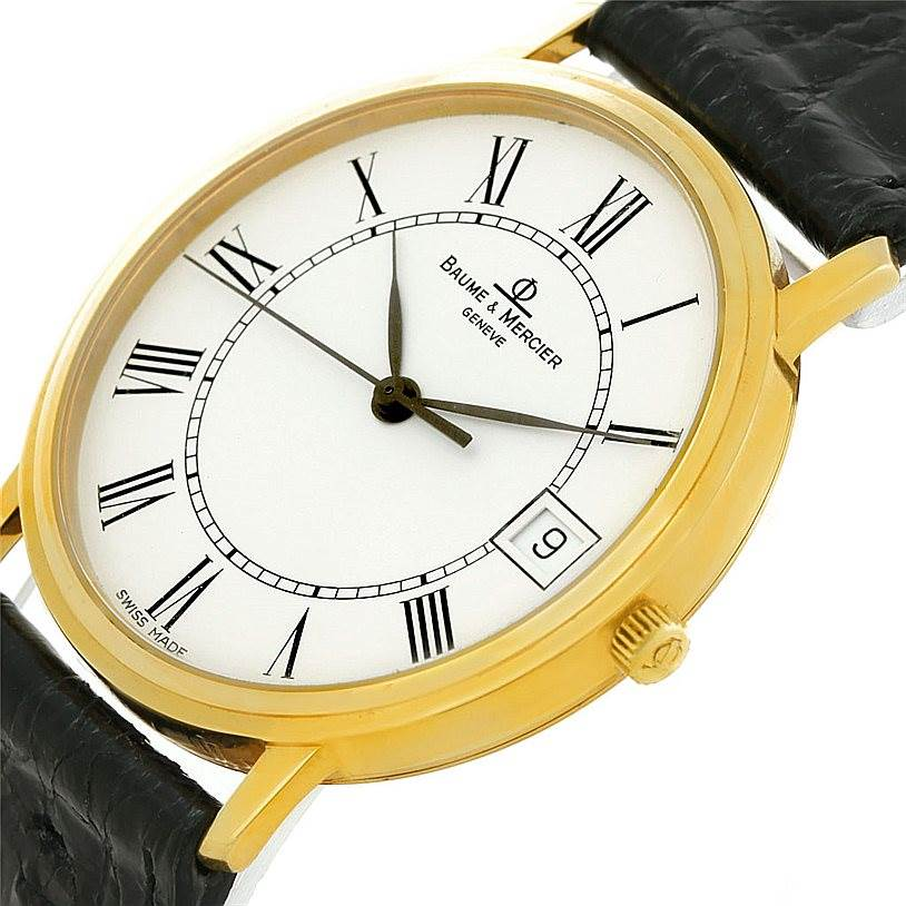 7854 Baume Mercier Classima 14K Yellow Gold Mens Watch 95712 SwissWatchExpo