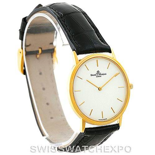 Baume Mercier Classima 1830 18K Yellow Gold Quartz Watch MV045088 SwissWatchExpo