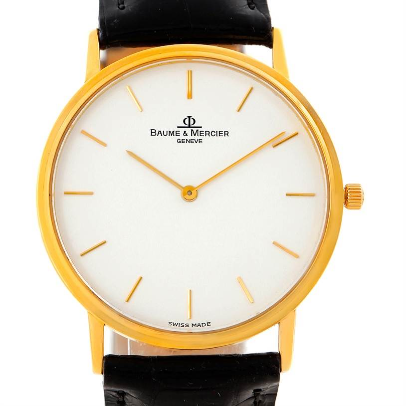 8059 Baume Mercier Classima 1830 18K Yellow Gold Quartz Watch MV045088 SwissWatchExpo