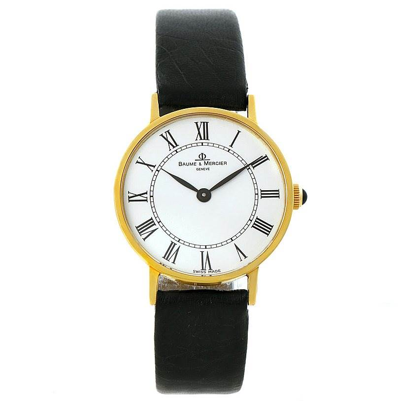 8060 Baume Mercier Classima 14K Yellow Gold Mens Watch 55121 SwissWatchExpo