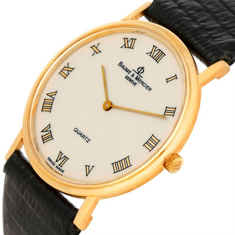 8143 Baume Mercier Classima 18K Yellow Gold Quartz Watch SwissWatchExpo