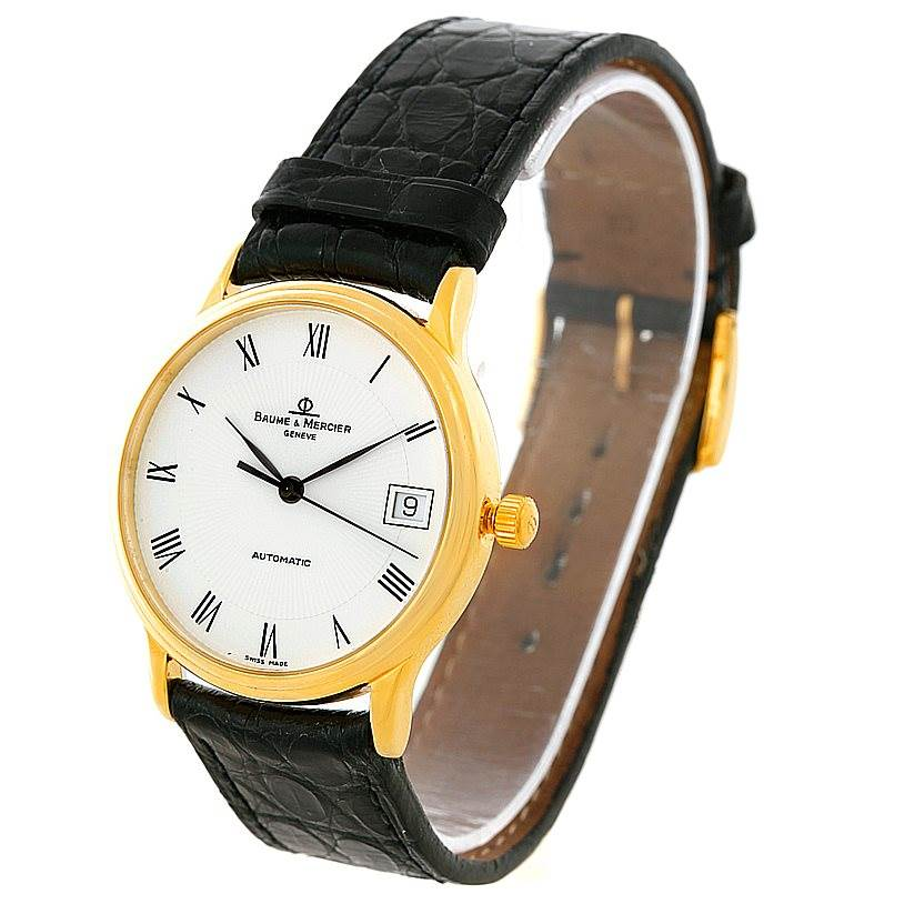 8241 Baume Mercier Classima Automatic 18K Yellow Gold Watch MV045075 8160 SwissWatchExpo